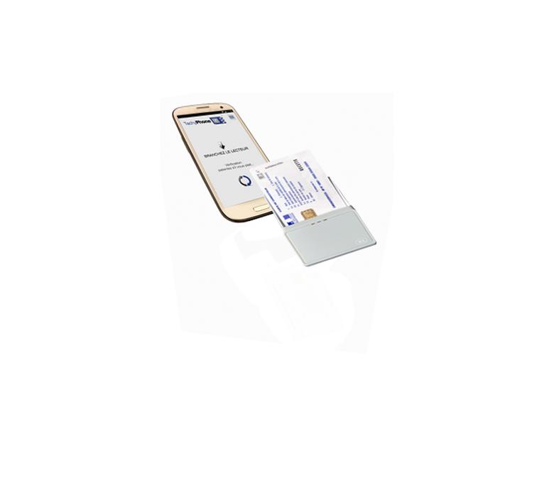 Lecteur de carte Bluetooth pour smartphone